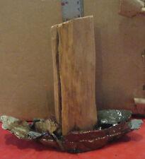 Driftwood Aquarium Ornament w/ Natural Stone (h) Freshwater Aquarium Decor SM