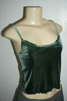 NWT WOMENS ABERCROMBIE & FITCH OLIVE GREEN VELVET CAMI TOP BLOUSE SIZE M
