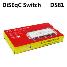 High Quality 8x1 Satellite Signal DiSEqC Switch LNB Receiver Multiswitch
