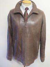 """Polo Ralph Lauren con cremallera chaqueta de cuero Harrington XL 46-48"""" euro 56-58 - Brown"""