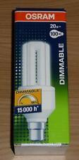 Osram Dulux el Regulable Lámpara Ahorro De Energía 20W B22d Blanco Cálido Hecho en Alemania