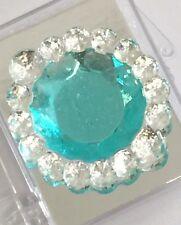 Edible Sugar Brooch Wedding Cake Diamond Jewel Gem Candy Decoration Round