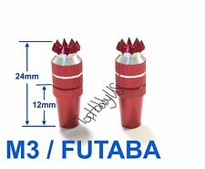 1set M3 Red Futaba / Spektrum DX6i DX7S DX8 DX9 TX Gimbal Sticks TH016-03002A