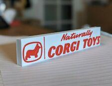 """""""NATURALLY CORGI TOYS"""" self standing logo display"""