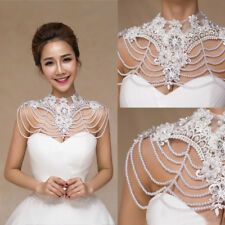 Lace Beading Cape Wedding Bridal Shawl Jacket Wrap Rhinestone Shrug Bolero Gifts