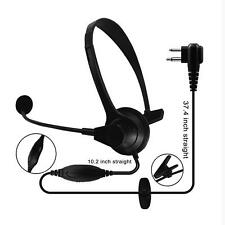 JH902 Headset with Microphone and PTT for Motorola with 2 pin connector