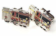 Scania bomberos Esmalte Crestado Mancuernas (N81) En Caja De Regalo