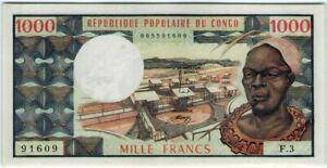 Congo 1000 Francs 1978 🔸UNC🔸 Banknote - k193