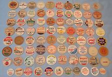 Lot of 81 Vintage Milk Dairy Bottle Caps all Different
