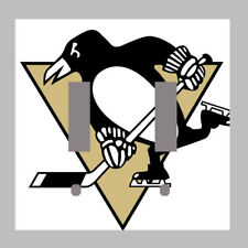 Pittsburgh Penguins - Double Light Switch Plate / Cover