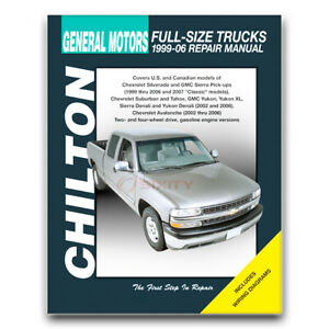 Chilton Repair Manual for 2000-2006 Chevrolet Suburban 1500 - Shop Service oi