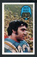 1970 Kelloggs Football Card #19 Dick Post-San Diego Chargers