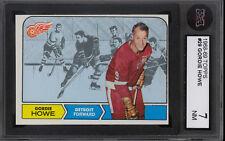 1968-69 TOPPS HOCKEY #29 Gordie Howe Graded KSA 7 N-MINT Detroit Red wings Card