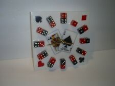 LAS VEGAS DICE CLOCK WITH BLACK & RED COLOR DICE FOR NUMBERS