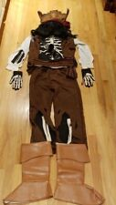 Glow in the Dark Disney Jack Sparrow Pirate Costume Halloween Size Childs Large