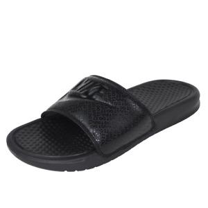 Nike Benassi JDI Men's Sandals Slippers Slides Flip Flops Black 343880 001 SZ 10