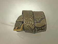 PRADA Milano Python Ledergürtel Gr.90/36 Schlangen Snake Leather Belt Grau