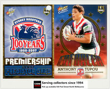 2007 Select NRL Invincible Enforcer + Predictor:E13 Anthony Tupou (Roosters)