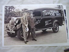 1935 ? FORD  3 MILLIONTH FORD TRUCK HENRY AN EDSEL    11 X 17  PHOTO  PICTURE