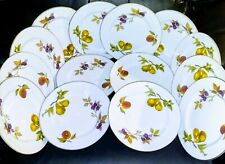 14 Evesham Royal Worcester Gold Porcelain Plates Collection Made in England
