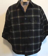 Men's Woolrich Wool Coat Jacket NWT USA WOOL Sherpa Lined List $200 size L