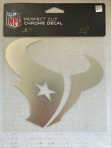 Houston Texans Decal 6x6 Perfect Cut Chrome NFL