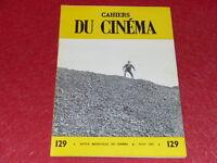 [REVUE LES CAHIERS DU CINEMA] N° 129 # MARS 1962 ROGER PLANCHON EO 1rst Printing