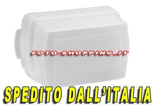 DIFFUSORE BOUNCE FLASH ADATTO PER NIKON SPEEDLIGHT SB-500 DIFFUSER SOFTBOX SB500