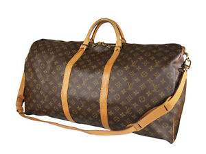 LOUIS VUITTON Keepall Bandouliere 60 Monogram Canvas Leather Boston Bag LH3834