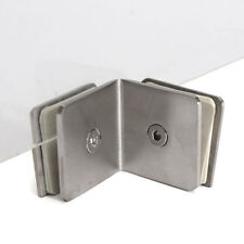 90 Degree Stainless Steel Frameless Shower Door Clamp Glass Bracket Chrome Clip