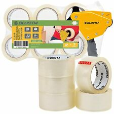More details for tape gun & 6 rolls strong clear packing tape packaging dispenser sealing boxes