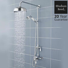 Hudson Reed Traditional Rainfall Shower Rigid Riser Kit Diverter Handset Ceramic