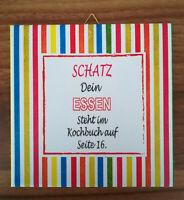 Dekofliese Wandfliese Bildfliese Decoupage Geschenkidee Essen Küche Spruch (150)