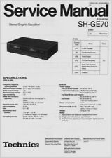 Technics SH-GE70 Stereo Graphic Equalizer EQ - SERVICE  MANUAL