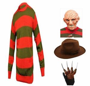 Kids Mens Boys Halloween Horror Style Fancy Dress Costume Hat Jumper Set