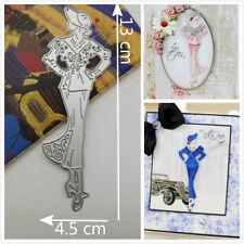 Lady Model Cutting Dies Stencils Scrapbook Album Paper Card Embossing DIY Craft