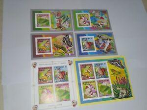 Chad 2012 Butterflies MICHEL No. 2571-2574  BL457-460