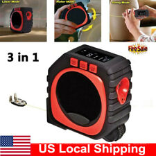 3 In 1 Digital Measure Tape String Measure Sonic Roller Mode Laser US Local Ship