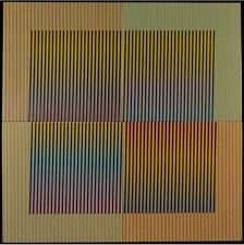 Carlos Cruz-Diez,Couleur Additive Treigny Serie 14 Editition of 20 Ceramique COA