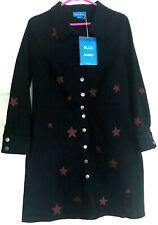 NEW MiH Jeans Dark Denim Black SUKI DRESS Size Large w/RED STARS M.i.h. NWT