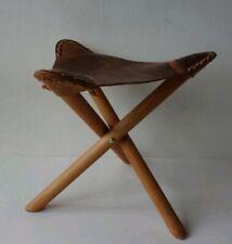 Original Ibiza Wood and Leather Stool (new)