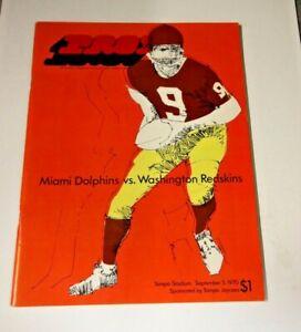 1970 NFL PRO FOOTBALL PROGRAM WASHINGTON REDSKINS VS MIAMI DOLPHINS @ TAMPA RARE