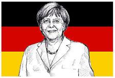 GERMANY FLAG (ANGELA MERKEL) - FUN SOUVENIR NOVELTY FRIDGE MAGNET - GIFTS - NEW