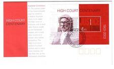 "2003 FDC. Australia. High Court Centenary. M.S. PictPMK ""CANBERRA"""