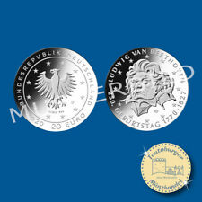 BRD 20 Euro 2020 , 250. Geb. Ludwig von Beethoven , 925er Silber*pfr*
