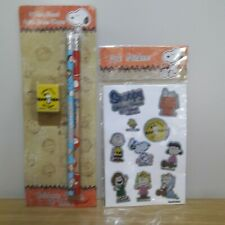 Celebrate Peanuts 60 Years Snoopy 2pk Stickers Pencils Eraser Topper