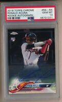 2018 Topps Chrome Ronald Acuna Jr RC Rookie Auto Autograph #RARA GEM MINT PSA 10