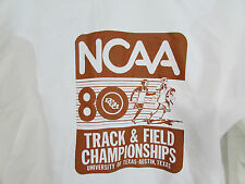 Vtg 1980 White NCAA Track & Field Championships Track Jacket University of Texas