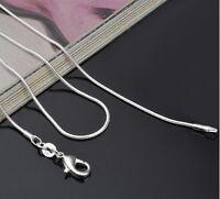 Cadenas /Collar Serpiente1 mm.PLATA 925.Varias Medidas