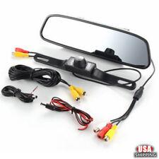 4.3'' TFT LCD Rear View Mirror Monitor LED Reverse Car Parking Backup Camera USA